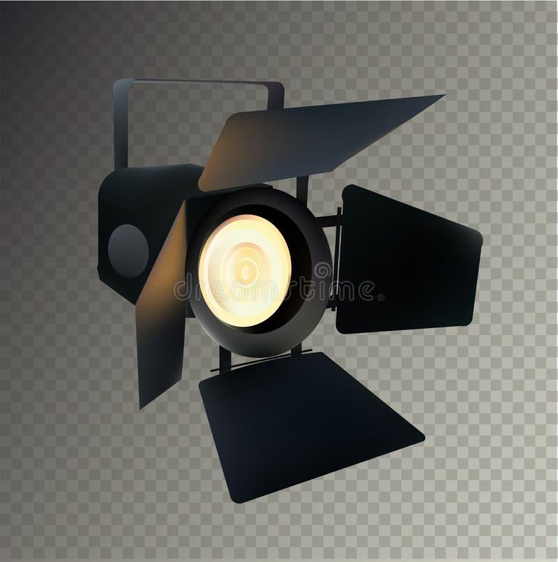 展示和场面的现实透明聚光灯 也corel凹道例证向量 向量例证