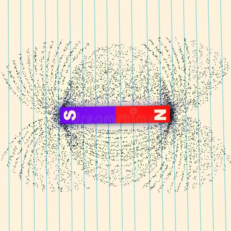 展示域归档强制铁线路磁性次幂 皇族释放例证