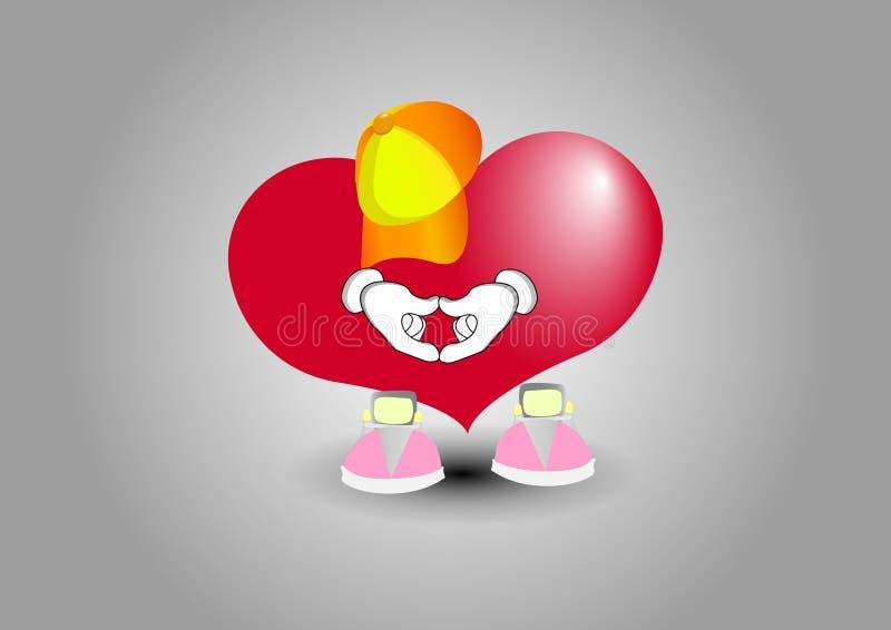 展示心脏手爱 向量例证