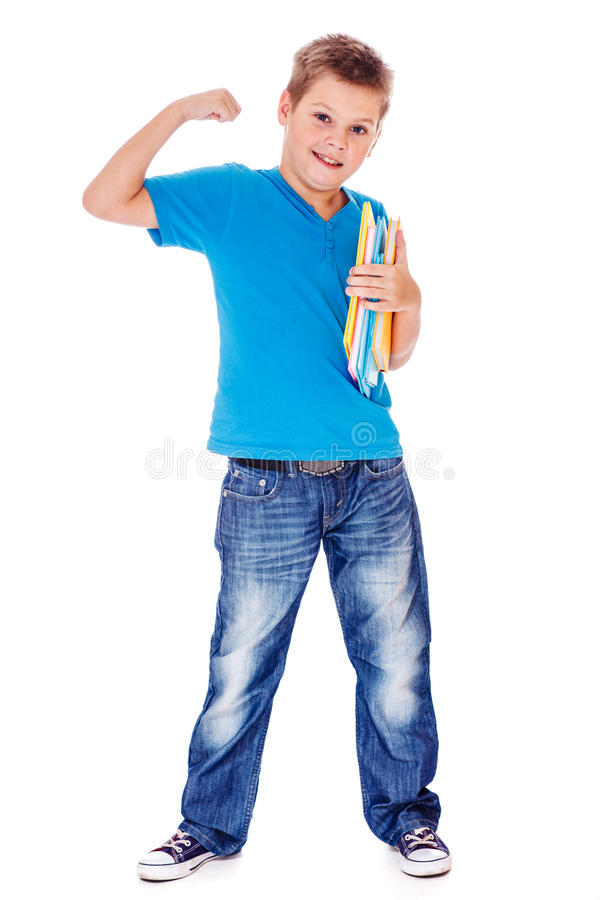 Download 展示他的力量的学校学生 库存图片. 图片 包括有 微笑, 突出, 年龄, 可爱, 教育, 子项, 有吸引力的 - 30335801