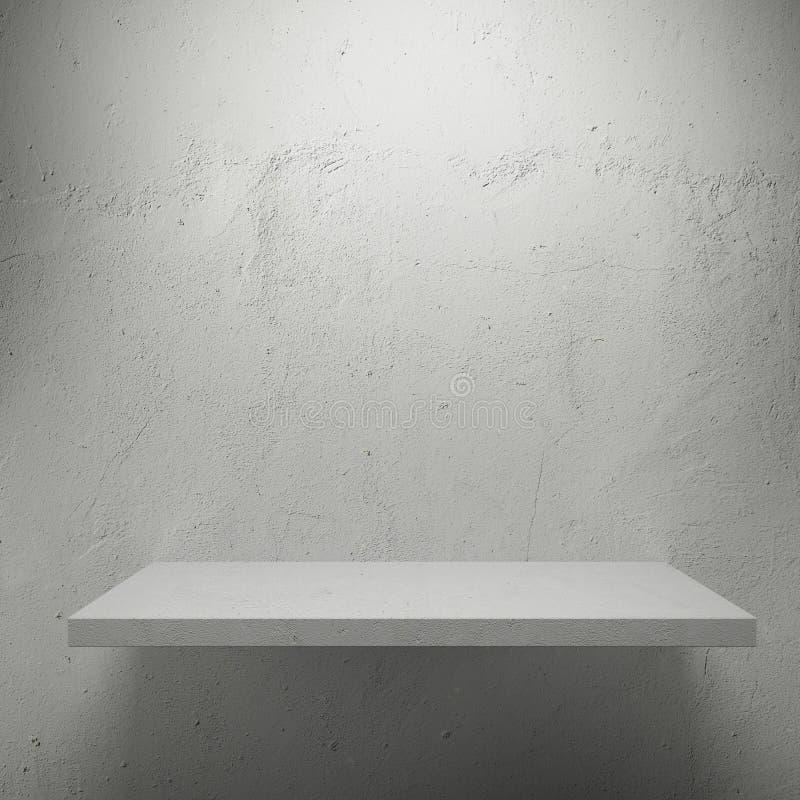 展览的空白空的架子 免版税图库摄影