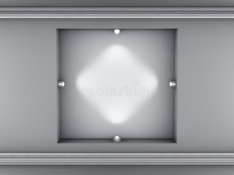展览适当位置聚光灯 库存例证