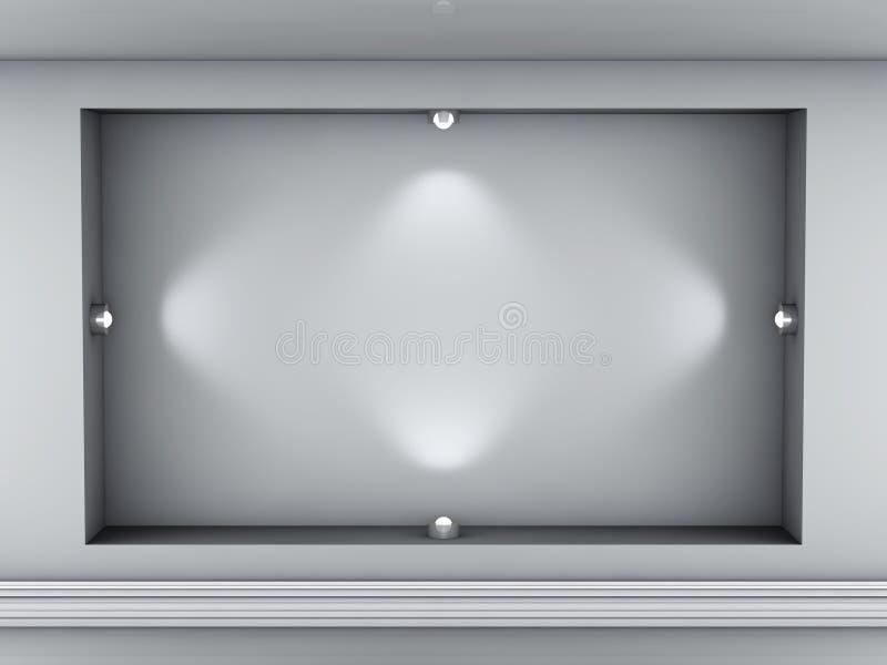 展览适当位置聚光灯 向量例证