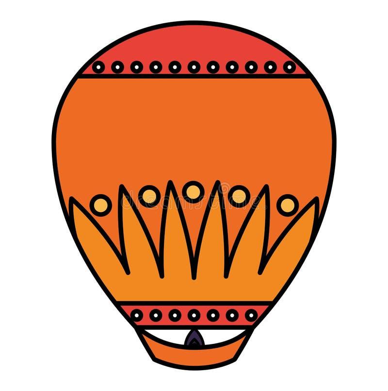 屠妖节灯笼象 向量例证