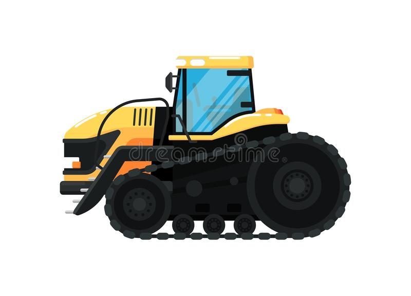 履带牵引装置农业tractorillustration 皇族释放例证
