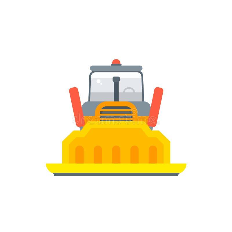 履带牵引装置或毛虫推土机正面图 皇族释放例证
