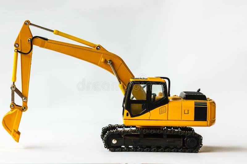 履带牵引装置挖掘机 免版税库存图片