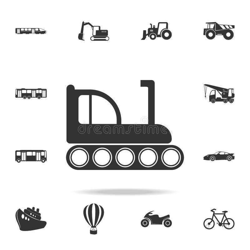 履带牵引装置推土机象 详细的套运输象 优质质量图形设计 其中一个网站的汇集象, 皇族释放例证