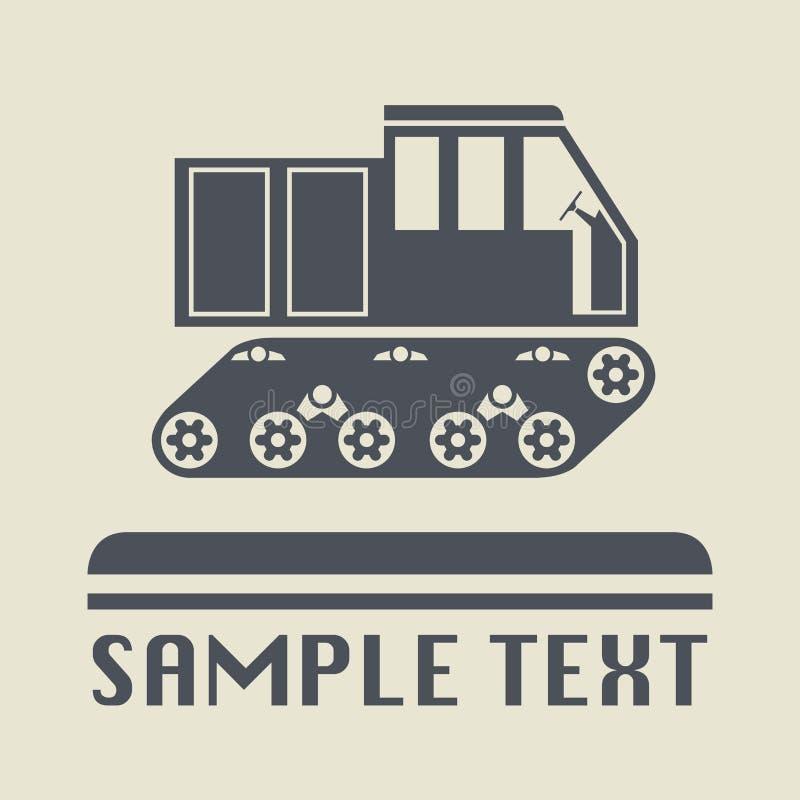 履带牵引装置运输象或标志 向量例证