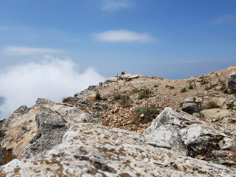 山上面在马尔韦利亚西班牙 免版税库存照片
