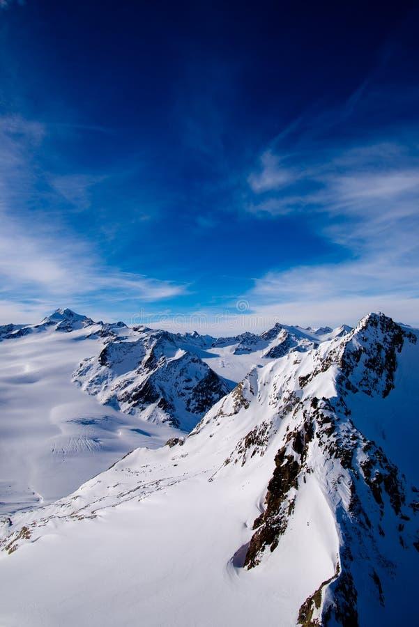 山云彩和天空 免版税图库摄影