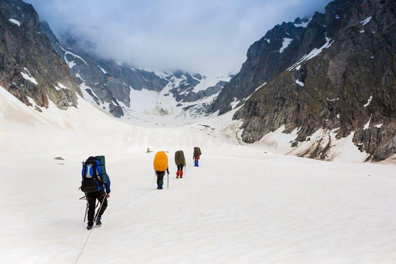 登山人队 免版税库存照片