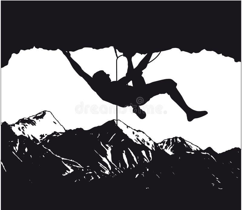 登山人,登山家2 皇族释放例证