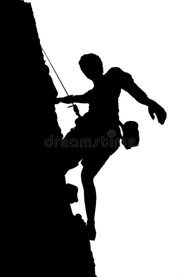 登山人 库存例证