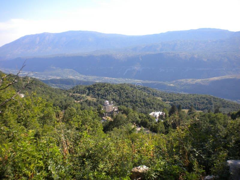 山从abowe的全景wiew 库存图片