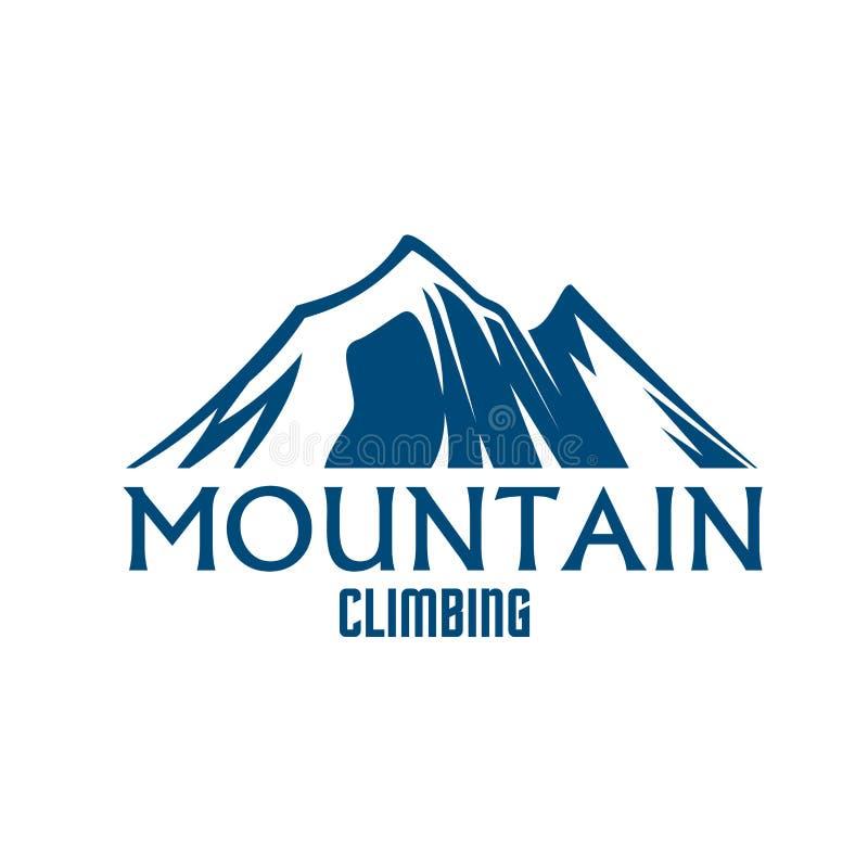 登山体育传染媒介被隔绝的象 向量例证