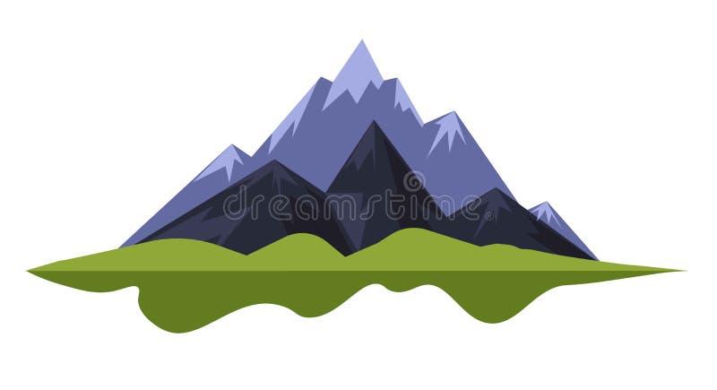 山使岩石或远足脚跟的自然环境美化野营和 向量例证