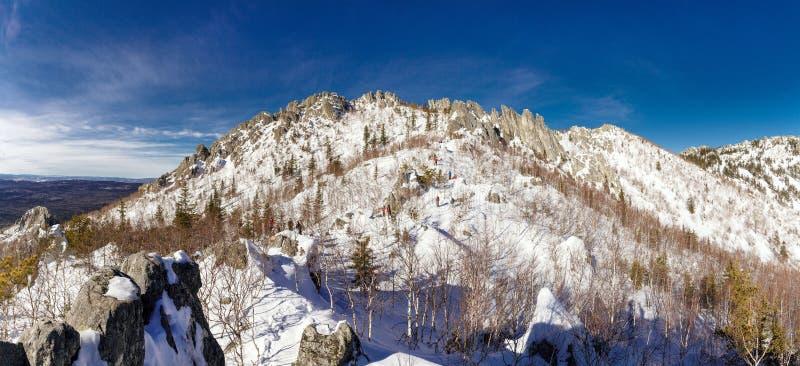 山全景顶视图 库存照片