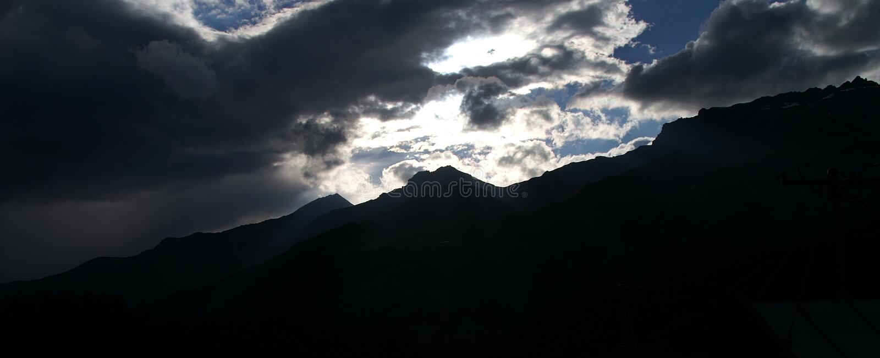 山全景 库存照片