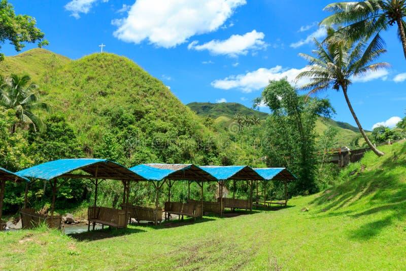 山区度假村在菲律宾 库存照片