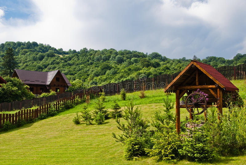 山区度假村罗马尼亚 免版税库存照片