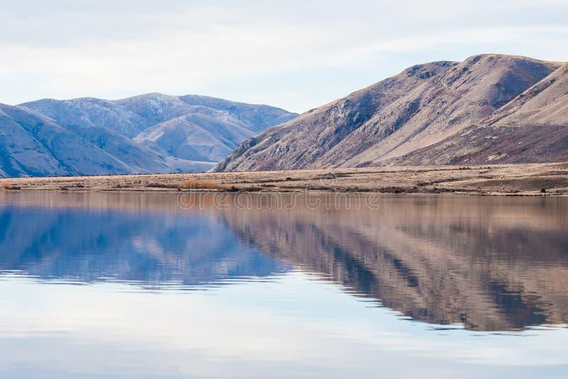 山反射,湖Clearwater 图库摄影