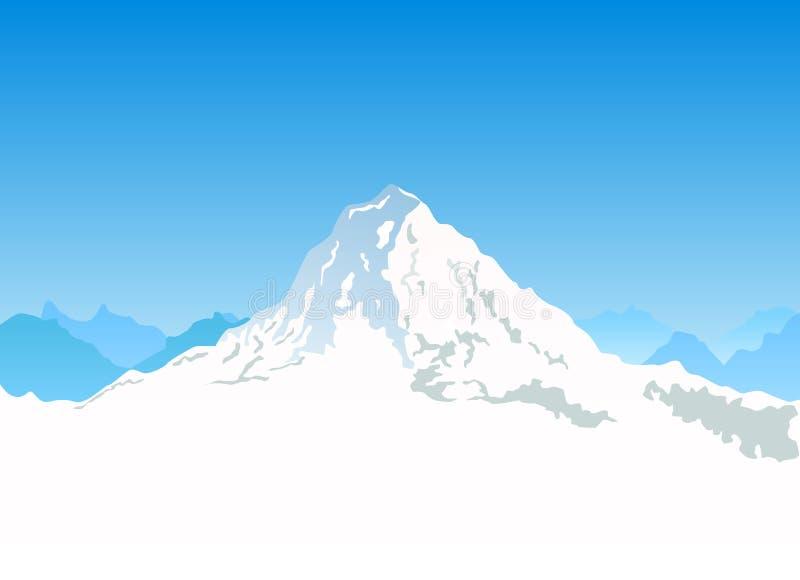 山向量 库存例证