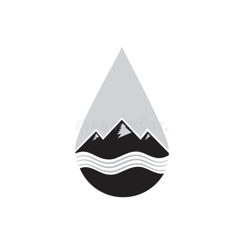 山和水例证商标概念 皇族释放例证