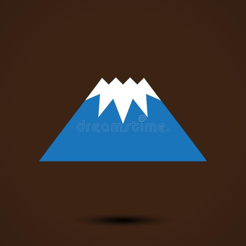 山商标模板 库存例证