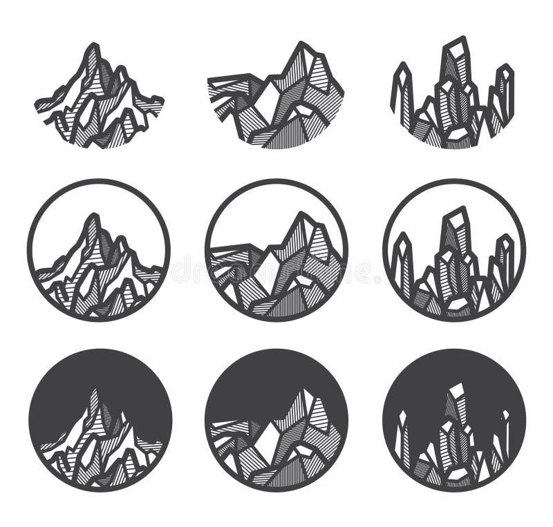 山商标象集合 向量例证