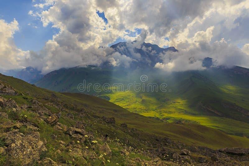 山国家公园Shahdag (阿塞拜疆) 库存照片