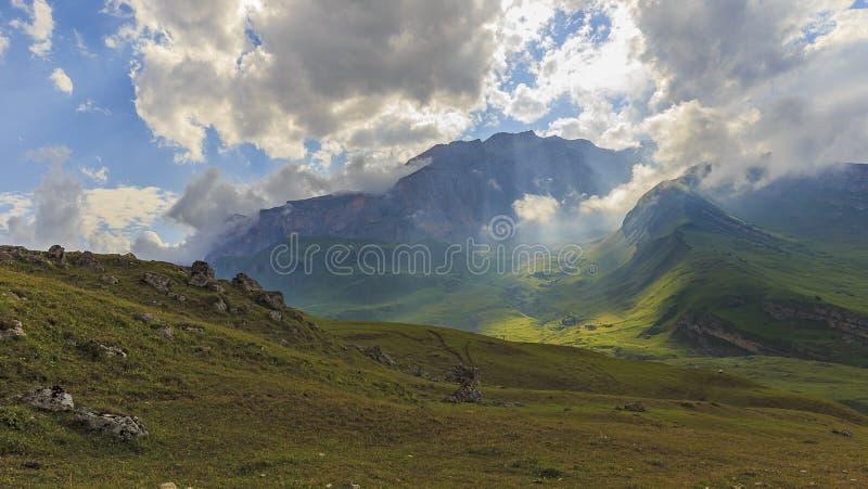 山国家公园Shahdag (阿塞拜疆) 免版税库存照片