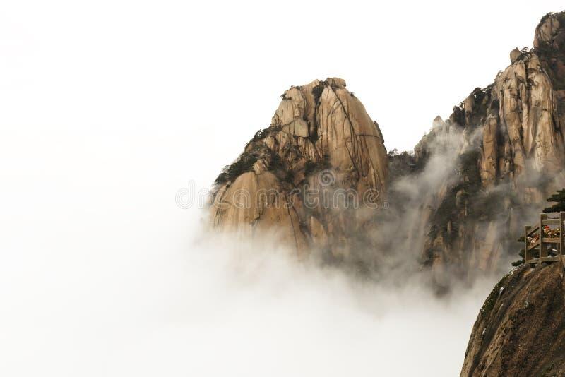 黄山在云彩海  库存照片