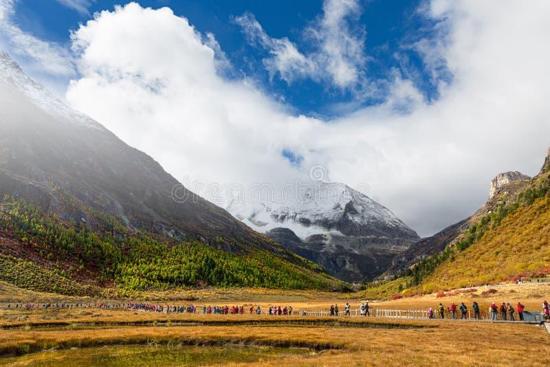 山在亚丁,中国 图库摄影