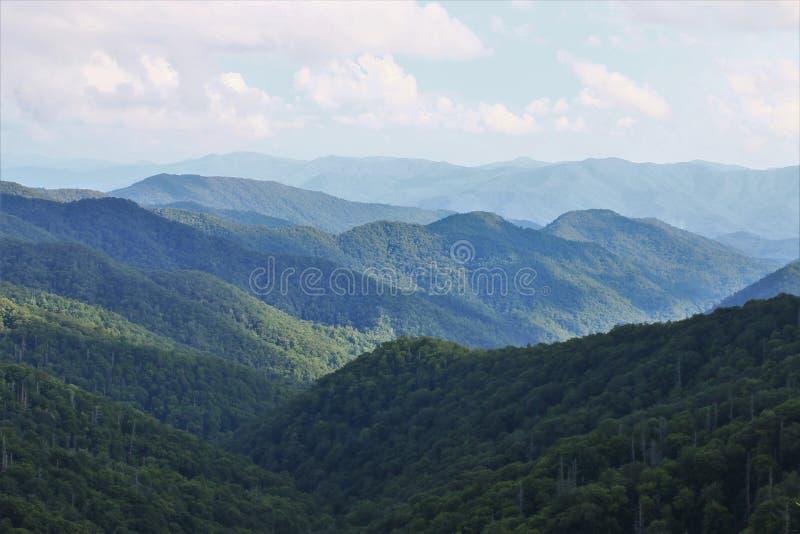 山在伟大的Smokey山国立公园 库存图片