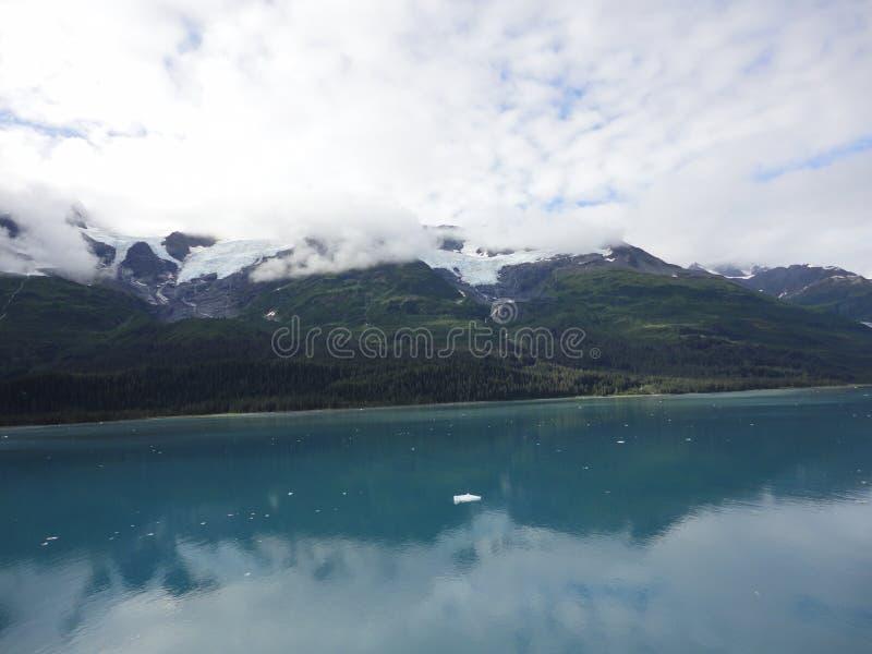 山在太平洋的被填装的天际 在段落里面的阿拉斯加 免版税库存图片