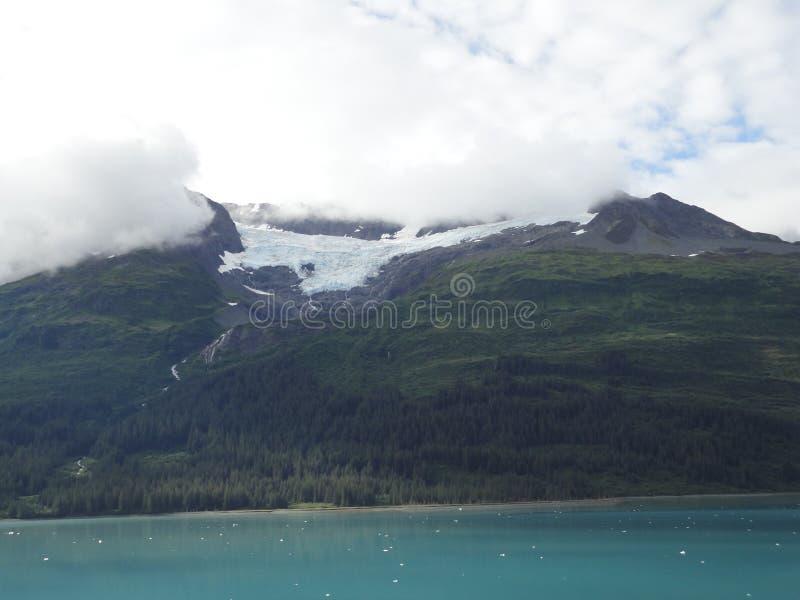 山在太平洋的被填装的天际 在段落里面的阿拉斯加 库存图片