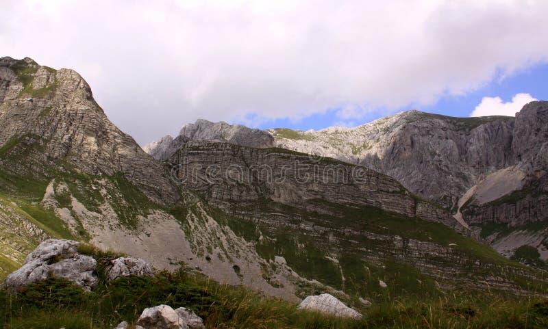 山在杜米托尔国家公园国家公园,黑山 免版税图库摄影