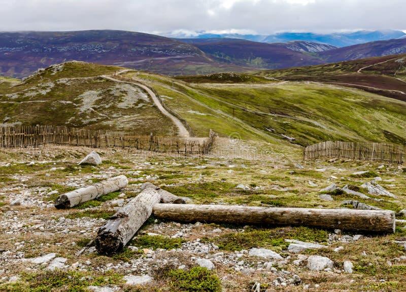 山在苏格兰高地,位于大约3 km对以为特色Tyndrum的西部操刀,并且什么看来是残破的p 库存图片