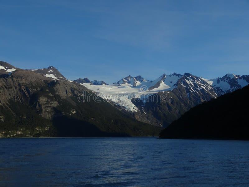 山在阿根廷,冬天天气 库存图片