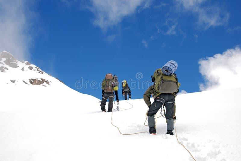 登山在高加索 免版税库存照片