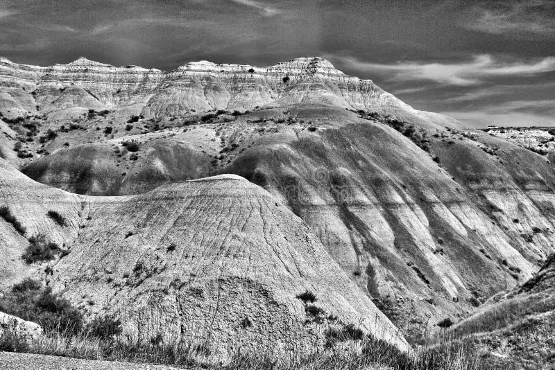 山在黑白的犹他- 库存照片