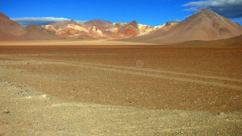 山在Altiplano 玻利维亚,南美 库存照片