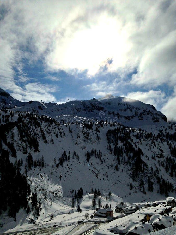 山在Obertauern 免版税库存照片