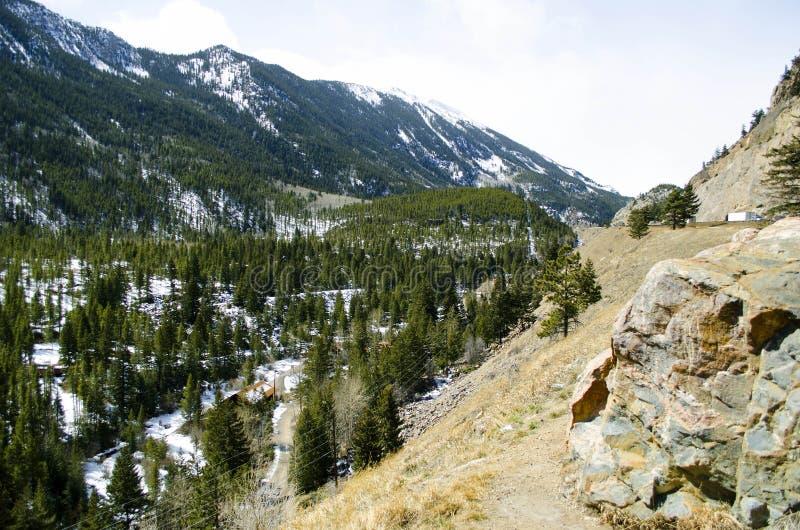 山场面在科罗拉多 免版税图库摄影
