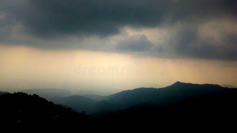 山天空在大吉岭 图库摄影