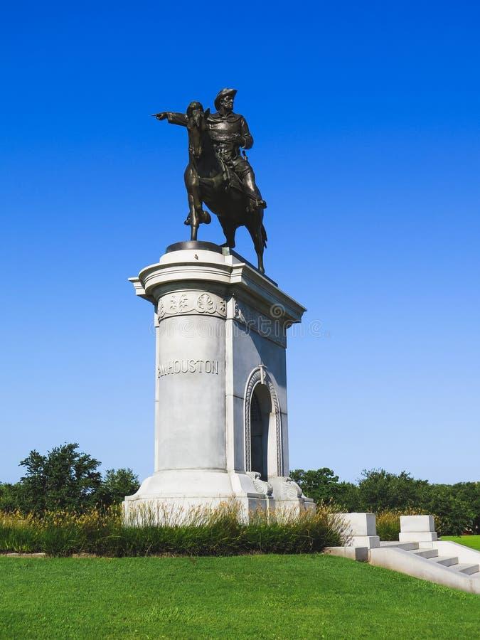 山姆・休士顿纪念碑休斯敦得克萨斯 免版税库存照片