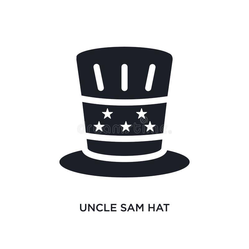 山姆大叔帽子被隔绝的象 从政治概念象的简单的元素例证 山姆大叔帽子编辑可能的商标标志标志 向量例证