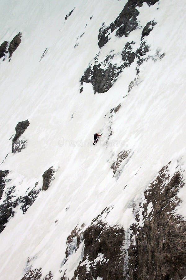 登山家滑雪者 免版税库存图片