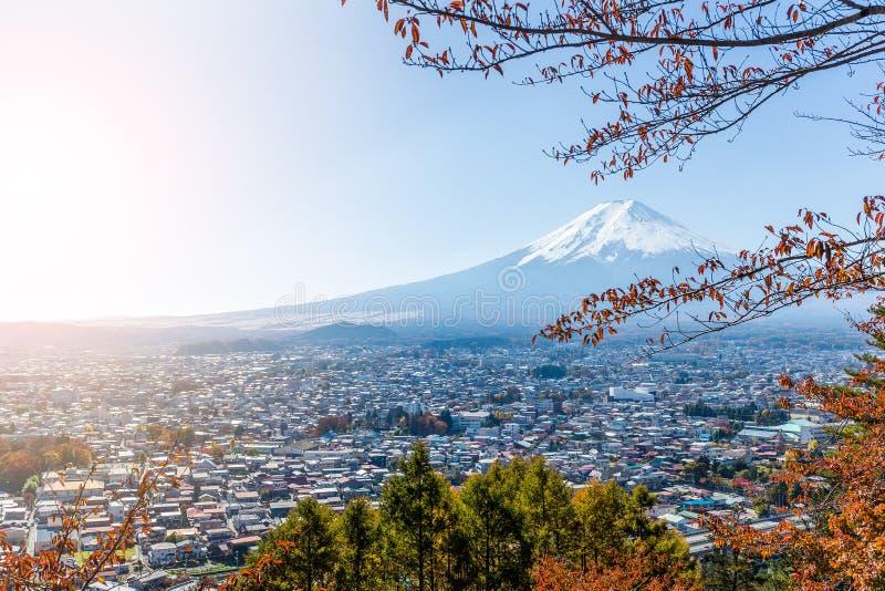 山富士在秋天 免版税图库摄影